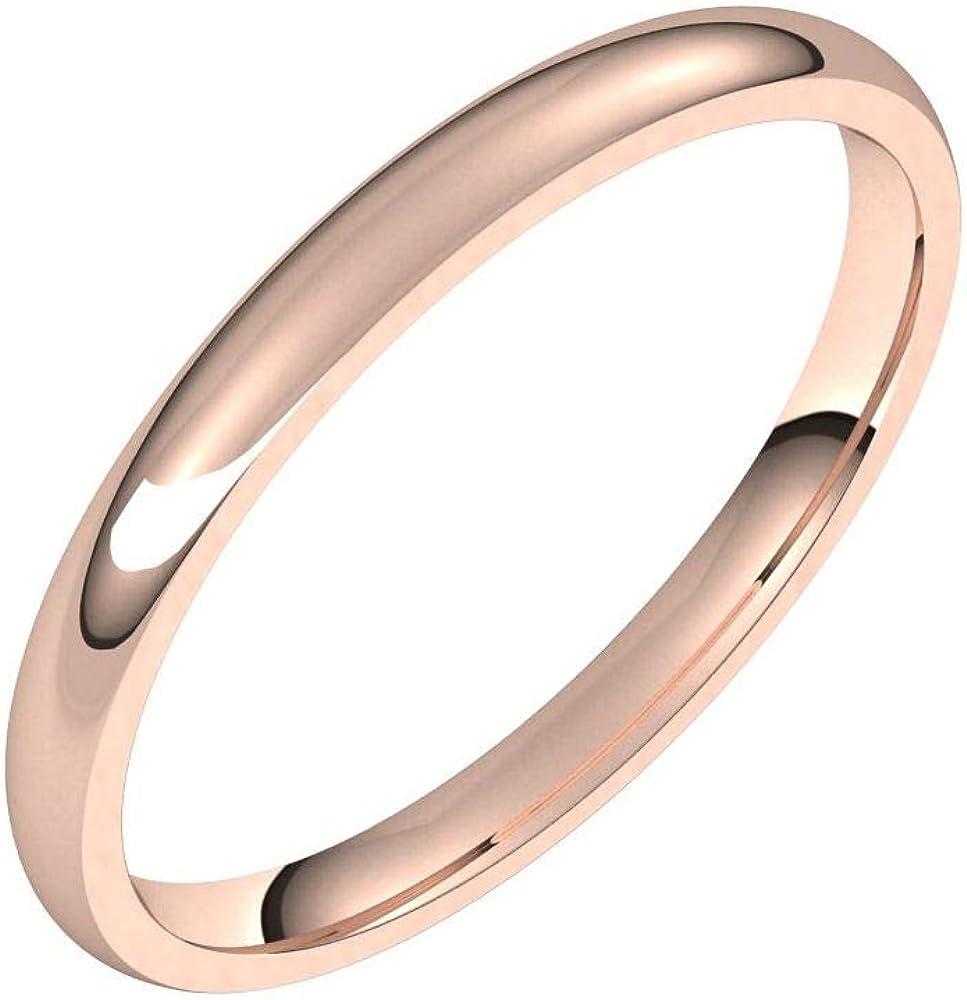 Solid 18k Rose Gold 2mm Comfort Pl Band Classic Ring Fashionable Manufacturer OFFicial shop Wedding Fit