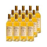 Jurançon Moelleux Le Plaisir Partagé Petit Manseng Blanc 2018 - Domaine Bordenave - Vin Doux AOC Blanc du Sud-Ouest - Cépage Petit Manseng - Lot de 12x75cl