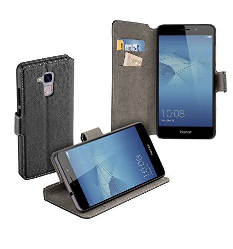 yayago Book Style Tasche für Huawei Honor 5C / Huawei GT3 Hülle mit Standfunktion Schwarz