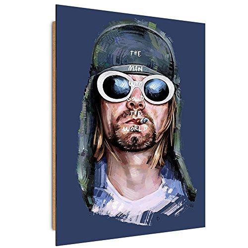 Feeby. Tableau - 1 Partie - 50x70 cm, Décoration Murale Image Imprimée Deco Panel, Dmitry Belov - Musique Bleu
