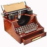 Chenhan Caja Musical Caja de máquina de Escribir música Local Vintage Retro for el hogar Cuarto de Mecánica de la decoración de los niños Retro Caja de música Regalos para niños (Color : Wood Color)