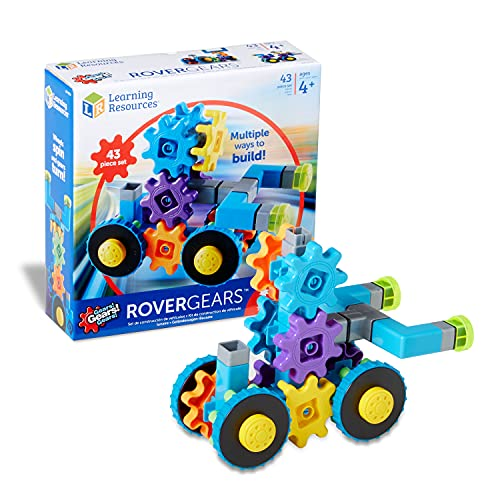 Learning Resources Gears! Gears! Gears! Rover Gears, Building Set, 43 Pieces, Ages 4+