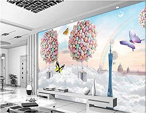 Mssdebz Aangepaste Mural Zijde Sjaal 3D Kamer Muurpapier Muur Kleurrijke Ballonnen Droom Fotobehang voor Muren 3D Stickers 140cmx100cm