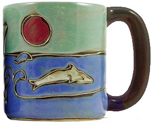 Handcrafted Stoneware Dolphin Mug
