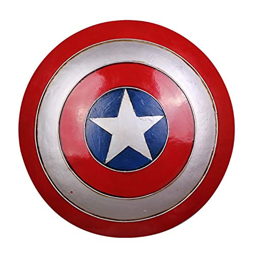Metal America Adult Shield 1: 1 Réplica De Accesorios De Cosplay, Marvel Legends Series Avengers Falcon Y Winter Soldier Capitán América Premium Role Play Shield A