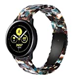 Wongeto Band Compatible with Galaxy Watch 42mm/Galaxy Watch 3 41mm Band Gold Women /Galaxy Watch Active2 40mm 44mm/Gear S2 Classic/Ticwatch 2, 20mm Luxury Resin Replacement Bracelet Strap (Blue)