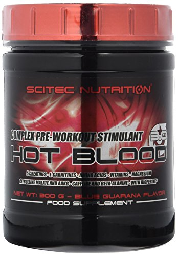 Scitec Nutrition Pre-workout  Hot Blood, Blue Guarana, 300 g
