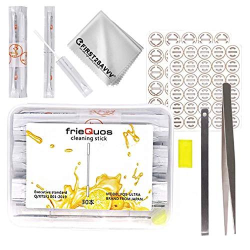Set di 30 tamponi di cotone alcool umido a doppia a due teste + Foglio Assorbente Olio + Silicone Plug Blade Compatibile Con IQOS 2.4 3.0 3.0 Duo