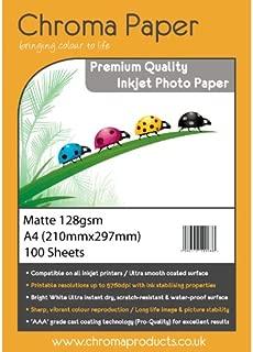 100/hojas unidades /A4/mate Inkjet Photo Paper/ /PREMIUM Grado 128/GSM Chroma/