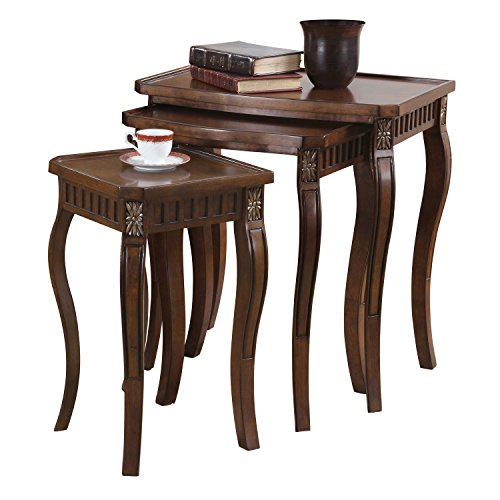 Coaster Traditional Warm Brown Nesting Table