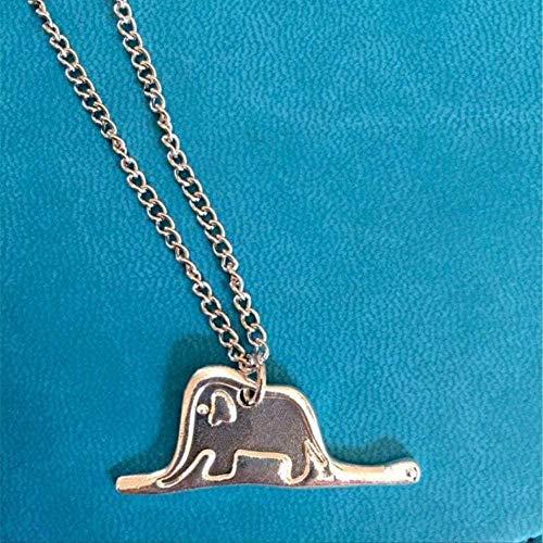 Collar Mujer Collar Hombre Collar Animal Collar Lindo Principito Elefante T Collar Colgante Collar Niñas Niños Regalo