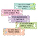 Inspirational Scripture Stickers- Set of 42 Scalloped Edge Seals, 3/4' x 2-1/2'