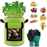 JAHEMU Bolsas de Cultivo de Papa Bolsa Planta Bolsa de Verduras 7 Galones Bolsa de Siembra de Patatas Saco para Plantas para Cebollas de Patata, Zanahorias, Tomates