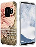 S9 Case Christian Sayings,Hungo Soft TPU Silicone Protective Case Compatible with Samsung Galaxy S9,Bible Verses Sayings About Faith Hebrews