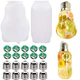 Extpro 2Pcs Light Bulb Resin Molds, LED Bulb Silicone Mold with 10pcs Chips Bases Caps for Epoxy Resin Light Craft Making Home Decoration