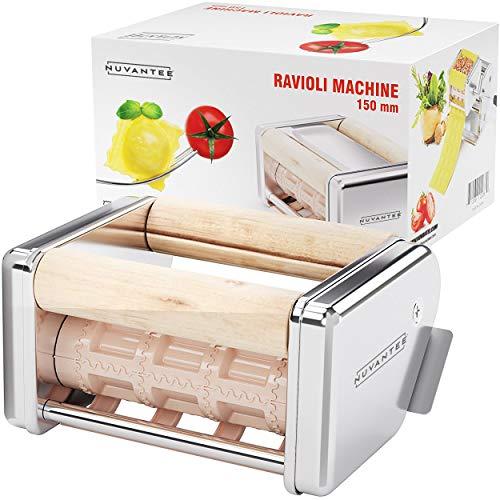 Nuvantee Ravioli-Schneider Zubehör - 150 mm lösbarer Ravioli Schneider – funktioniert mit Innovee Pasta Maschine & anderen Marken – Ravioli Schneider aus hochwertigem Edelstahl