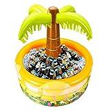 Eiskübel Aufblasbarer Getränkekühler, aufblasbarer Palmenkühler, Wein- & Sektkühler bierkühler, Outdoor-Picknick und Grillparty für Erwachsene und Kinder