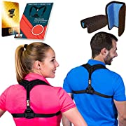 """Only1MILLION Posture Corrector for Women & Men, Relieves Shoulders Pain, Corrects Slouching, Hunching & Bad Posture, Upper Back Brace for Clavicle Support, Chest 28""""-48"""""""