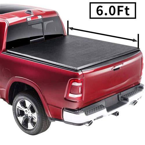 MILLION PARTS Soft Tri-Fold Tonneau Cover Soft Folding Truck Bed Tonneau Cover Fit for 2016-2020 Tacoma TRD Shotr Double cab 6' Bed