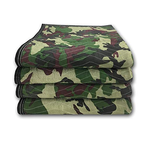 uBoxes Camouflage Moving Blankets 65lbs/doz (4 Pack)