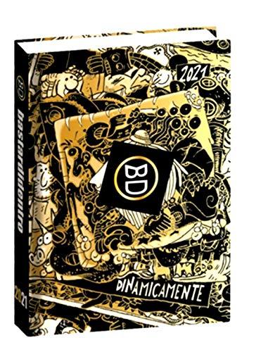 DIARIO SCUOLA Bastardidentro Bastardi Dentro Edizione Limitata Speciale Oro Dinamicamete Pocket 2020-2021 16x11cm + Omaggio portachiave Fischietto + Penna Colorata + Omaggio segnalibro