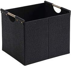 Black Fabric Cube Storage Bin Woven Durable 12.75 in. x 15 in. x 12.75 in