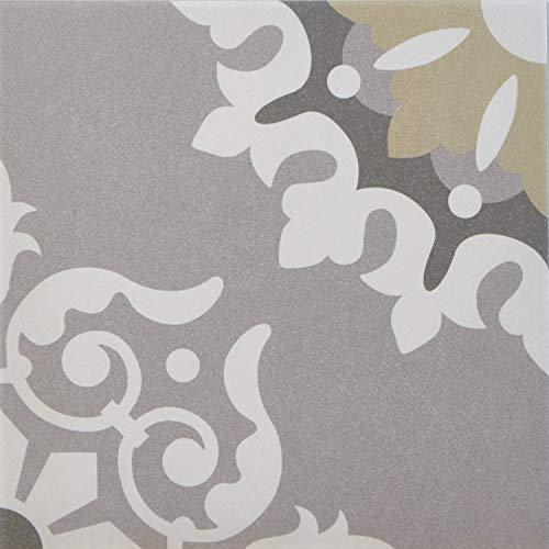 """1 Musterfliese   Marokkanische Fliesen in Zementoptik """"Genna""""   20 x 20 cm   für Küche Flur Bad & Küchenrückwand   Einfach schöner wohnen   MF7019"""