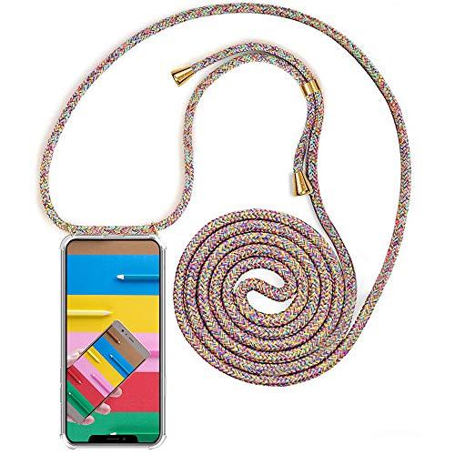 YuhooTech Funda con Cuerda Compatible con iPhone 11 Pro MAX (6.5) - Carcasa Transparente TPU Suave Silicona Case Cubierta con Colgante Ajustable Collar Correa de Cuello Cadena Cordón Cover