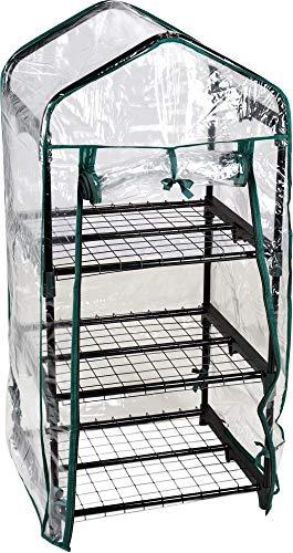 hibuy Gewächshaus/Foliengewächshaus - ideal für den Balkon - 105 cm - 3 Etagen