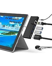 Surface Go Docking Station, 5 in 1 Surface Go Docking Dtation USB C hub HDMI Adapter met 1000M RJ45 Ethernet, 4K HDMI, 2 USB 3.0 poorten, Audio/Microfoon Uitgang (Hoofdtelefoon) voor Microsoft Surface Go