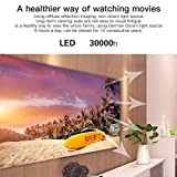 Criterion Version (Black), Support HDMI & AV & SD & USB & VGA, 1280x720 2400LM Miniskirt LED Projector Dwelling Theater (Color : Black) -  U\C