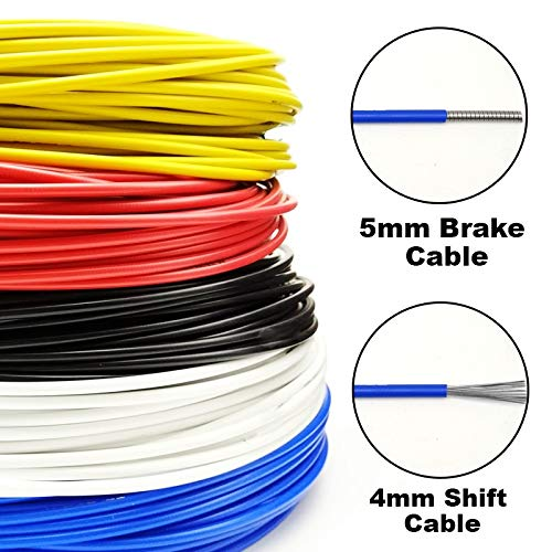Why Should You Buy GNKJ 1m Bicycle Brake housing/Gearbox Bicycle Brake Cable (Color : 5mmbrake Cable...