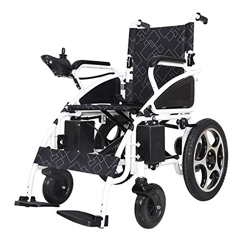 Electric Wheelchair by KWK - Lithium Battery - Free DELIVERY & Free Return from UK - 2 Years Warranty - VAT Relief Available/Please Ask (White)