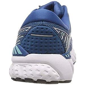 Brooks Womens Adrenaline GTS 19 Running Shoe - Blue/Aqua/Ebony - B - 9.0