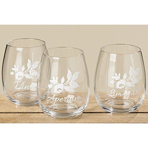 Boltze Trinkglas Weinglas Limonata mediterran