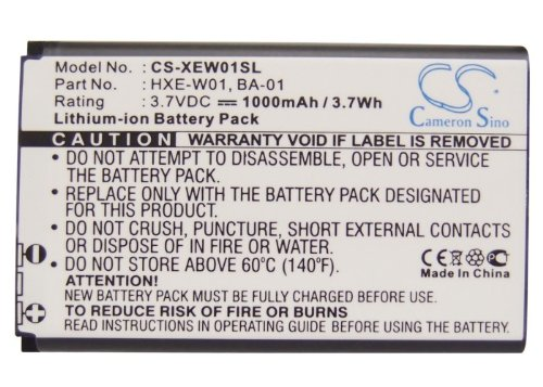 MEXXTRONICS Battery for use in Holux GPSlim236, 1000mAh, 3,7V, Lithium Ion, Li-Ion, LiIon, 100% fits, Fully Compatible (NOT AN ORIGINAL Battery), Black, 1000 mAh, 3,7 V, GPS Navigation