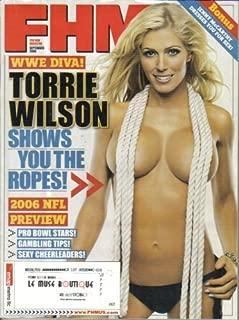 FHM - FOR HIM MAGAZINE (September 2006 / Issue #71) WWE DIVA TORRIE WILSON + 2006 NFL PREVIEW