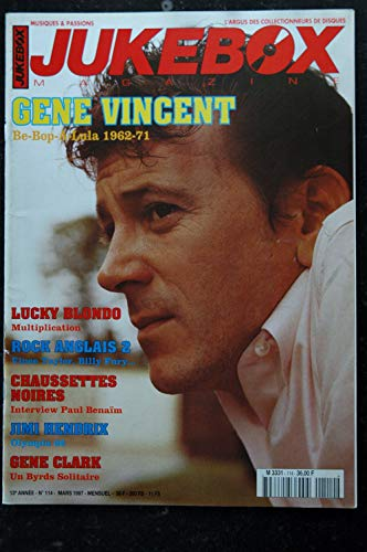 JUKEBOX 114 Gene Vincent Lucky BLONDO Vince TAYLOR Chaussettes Noires Jimi Hendrix Gene Clark