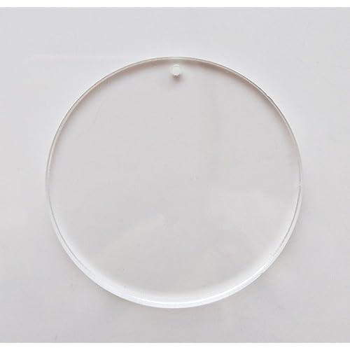 """100 1/"""" x 1//8/"""" Clear Acrylic SMALL Circle Disc Craft Plastic Plexiglas Mini Stand"""