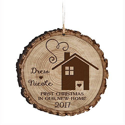 LifeSong Milestones Personalized Our First New Home Christmas Ornament Custom Housewarming Gift Ideas for Couple him her (First Christmas in Our Home)