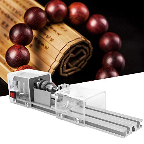 Great Features Of DIY Woodworking Lathe, Mini Lathe Beads Machine 12-24V DIY Woodworking Lathe Grind...