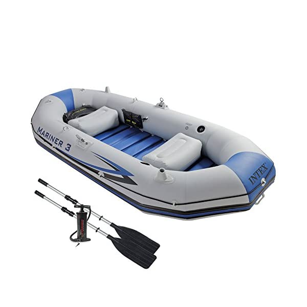 Intex Mariner 3 Inflatable Dinghy 3 Man Boat with Aluminium Oars and Pump