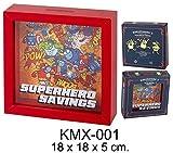 SUPERHERO GIRLS Madera kukuxumuxu Superhero Huchas Decorativas Muebles Pegatinas Decoración del hogar Unisex Adulto, Multicolor (Multicolor), única