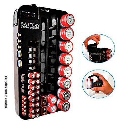 Review Of 72 Battery Caddy Storage Plastic Holder Rack Organizer Removable Tester AAA D C