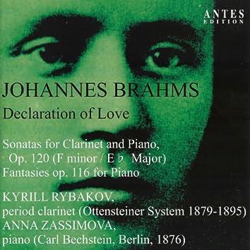 Johannes Brahms: Sonate für Klarinette und Klavier, Op. 120 - Fantasien für Klavier solo, Op. 116