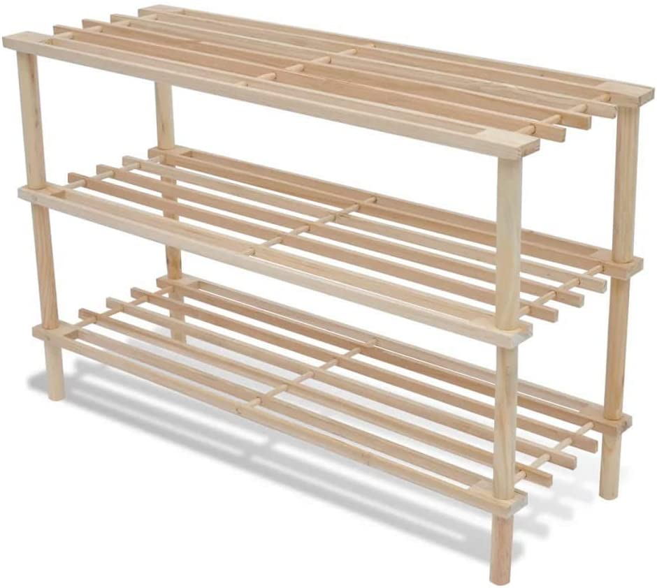 Shoe Rack 2 pcs Wooden 3-Tier New item Regular discount StorageTower Entry