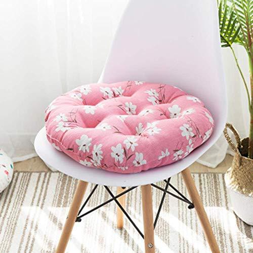 H.Slay 2 cojines de asiento de patio al aire libre, hermoso cojín de silla de comedor de jardín, cojín de piso redondo suave para ventana de yoga en casa oficina