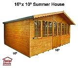 Total Sheds 16ft (4.8m) x 10ft (3m) Summer House Cabin Supreme Cabin