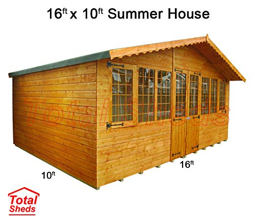 Total Sheds 16ft (4.8m) x 10ft (3m) Summer House Cabin Supreme Cabin
