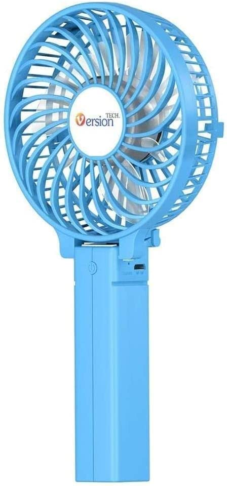 Sale LC_Kwn Electric Fan USB Charging Portable Carry Hand Mini Small SALENEW very popular!